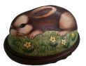 "Brown Rabbit Sculptured (02/0925)  2' x 1.1"" ."
