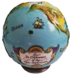 "Millennium Globe (15/0079)  2.75"" tall. Bottom: Words by Tennyson."
