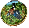 "Jay Bird (PLM-Jay) Artist Proof dated 08/10/08. 2"" diameter. Freehand painted by Catherin Higham."