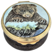 "Brown Bear (PQ-BB) 1.25"" diameter. Freehand painted by Sandra Dance. Limited Edition of 75."