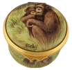 "Chimps (PSS-CH)  1.62"" diameter. Freehand painted by Sandra Selby. Artist Proof Dated 24/1/10 on back - 1 of 1."