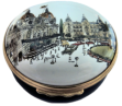"The Casino, Monte Carlo (03/3720) 2.25"" diameter. Inside: ""The Casino, Monte Carlo after a pencil & watercolour by Paul Hogarth RA 1986"""