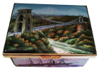 "Isambard Kingdom Brunel (11/8203)  3.25"" x 2.5"" x 1.25"".  Sides: Great Western, Box Tunnel, Thames Tunnel, Royal Albert Bridge. Limited Edition of 150."