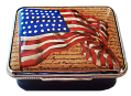 "Vintage American Flag & Constitution (64/9537)  2"" x .5"" x 1.25""."