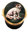 "Jack Russell (02/5057)  2.12"" oval. By Chrissy Wilson."