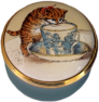 "Smithsonian Teacup Kitten (15/4327) 1.25"" diameter. Lid unscrews. Inside Lid: ""Your're the cat's whiskers"""