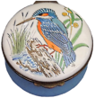 "Kingfisher (Crummles) 2.5"" diameter. Small place inside base didn't get enough enameling."