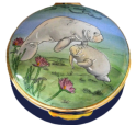 "Manatees (Crummles)  2.25"" diameter. Base: ""HANDPAINTED EXCLUSIVELY FOR CAMERON & SMITH BY CRUMMLES & CO. LTD. LIMITED EDITION"""