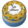 "Be Happy (15/8861) 1.25"" diameter."