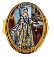"Queen Charlotte (02/4664) Oval  2.16"" diameter. Made Exclusively for Buckingham Palace. Limited Edition of 500."