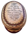 "QE II 40th Wedding Anniversary. 2.87"" oval. Limited Edition of 400."