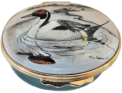 "Northern Pintail Duck (02/Halcyon) 2.12"" Oval. Inside Lid: ""Northern Pintail (Male symbol) ANAS ACUTA ACUTA"""