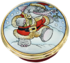 "Elephant at Christmas (24/8262)  .87"" diameter. Lid Screws On/Off."