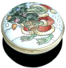 "Frog at Christmas (15/8260) 1.25"" diameter. Lid Screw On/Off."