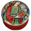 "Angel With Prayer Book (15/7206) 1.25"" dia. Screw Lid."