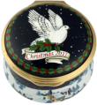 "Christmas 2017 (01/10860)  1.62"" diameter.  Inside: ""Peace on earth will come to stay when we live Christmas every day"""