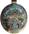 "2001 Christmas Medallion (Halcyon Days )  ""Once in Royal David's City"" Limited Editon of 365"