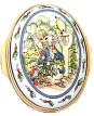 "Beatrix Potter Peter Rabbit w/Radishes (02/5076) 2.12"" oval diameter."