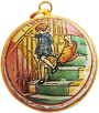 "Winnie the Pooh Christopher Robin Ornament (01/5160) 1.62"" diameter."
