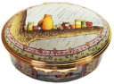"Winnie the Pooh A Bear and His Honey (02/5897) 2.12"" oval. Limited Edition of 750."