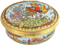 "Winnie the Pooh Time with Friends (02/8302) 2.12"" oval. Limite Edition of 250."