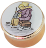 "Paddington Bear Writing (Crummles) 1.1"" diameter."