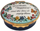 "Good Health, Happiness (02/5691) 2.12"" oval."