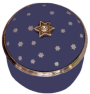 "Little Star Jeweled box (04/7784) .87"" diameter with screw lid. Inside Lid:""To the brightest star"" Silver colored metal w/swarovski crystal."